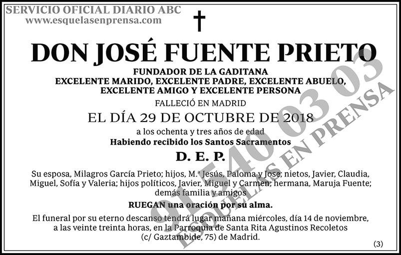 José Fuente Prieto